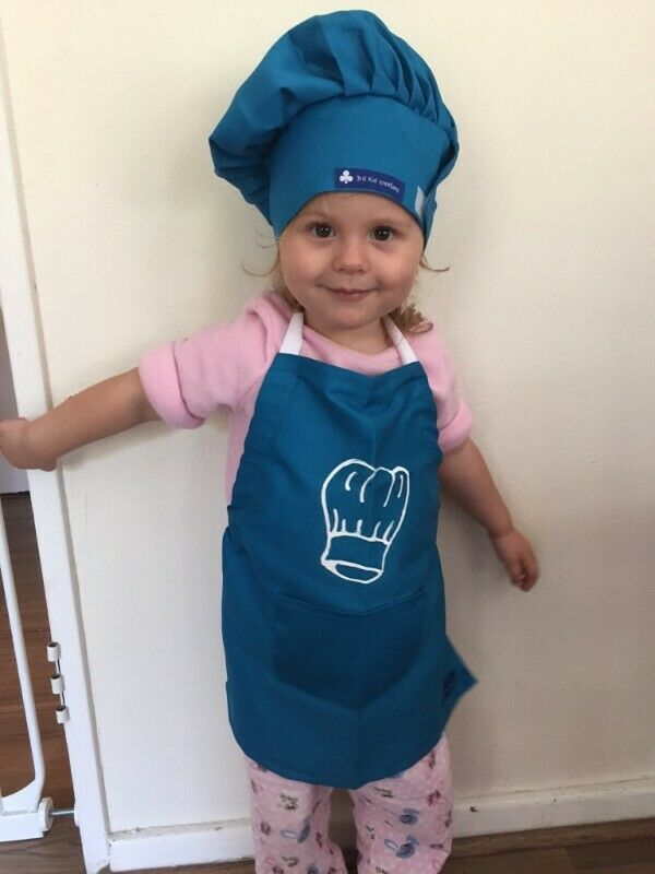 Beautiful Kids chef aprons and hats - 3rd Kid Creations