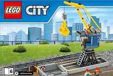 LEGO City gru con binario-da 60098 pesanti Terra Treno-SENZA SCATOLA