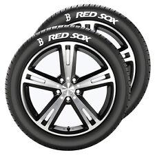 Boston Red Sox Tire Tatz 2 Pack [NEW] Decal Wheel Car Rubber Tats Tattoo CDG