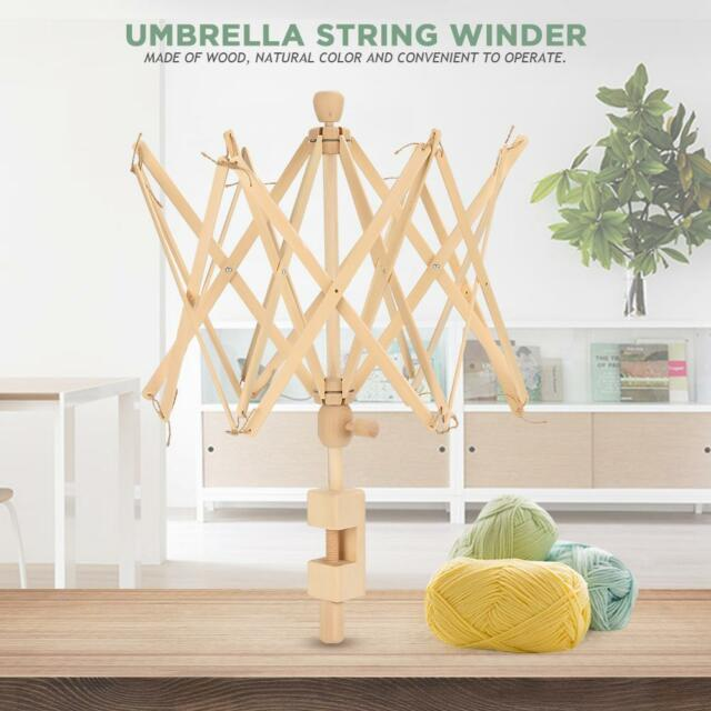 1pc Wood Knitting Umbrella Swift Wool Yarn String Winder Holder Machine 75cm