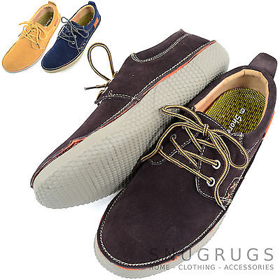 Kreativ Mens Genuine Leather Suede Summer / Holiday Boat / Deck Shoes Kaufe Eins, Bekomme Eins Gratis