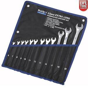 BlueSpot-extra-largo-llave-de-combinacion-Spanner-Set-Metrico-6-22mm-12-piezas