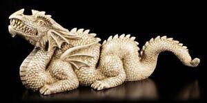 Figurine-de-jardin-Dragon-Chinois-FANTASIE-Figure-Decoration-de-jardin-beige