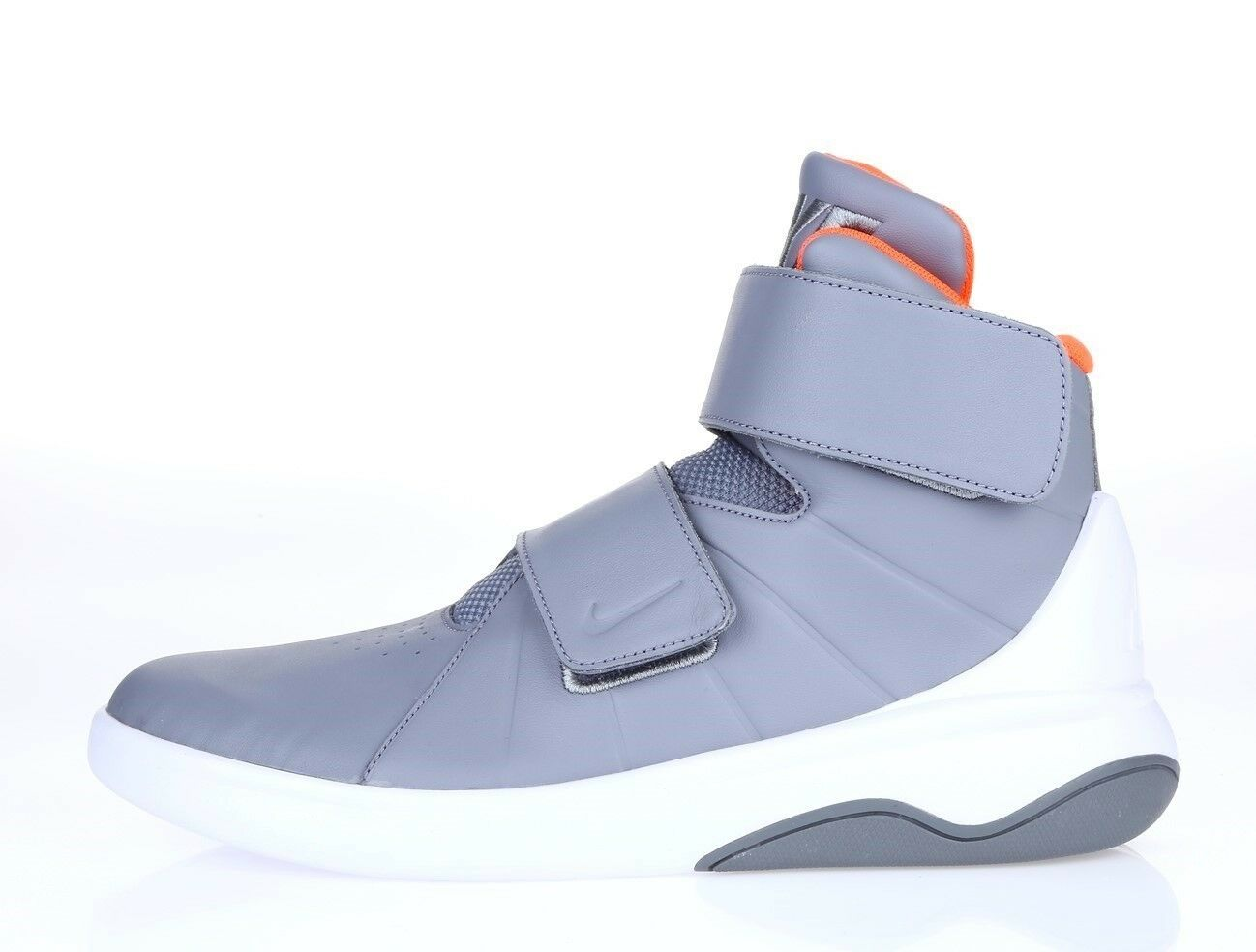 Mens NIKE 226249 gray mesh athletic basketball sneakers Price reduction