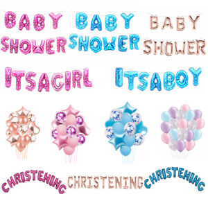 """Baby Shower Oh Baby It/'s a Boy//Girl 12/"""" Foil Letter Balloon Party Christening"""
