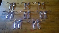 Reclaimed Pair Of Chrome Lever Handles B.P Long Plates Door Pulls Art Deco