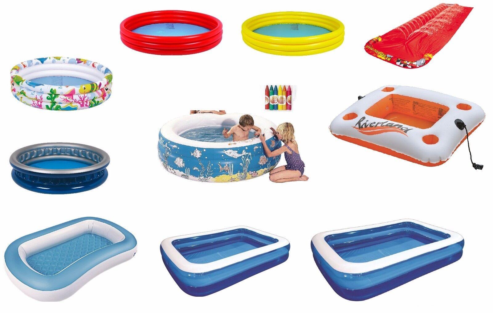 Inflatable Rings Pools, Slip n Slid, Square Rectangular Pools Swimming Pool Lilo