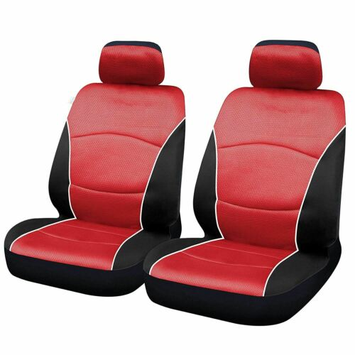 Red Full Set Front Pair Car Seat Covers for Mercedes-Benz C-Class Amg 08-On