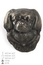 Tibet-Spaniel hängen an einer Wand, Bronze, Art Dog, DE
