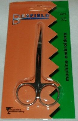 """BLB342 Bexfield Double Curved Machine Embroidery Professional Scissors 4.1//2/"""""""