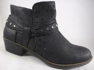 RAMPAGE JULIET Women/'s Ankle Boots Black Strappy Zip Up Dress Shoes Booties