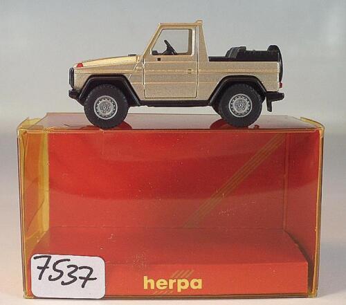 Herpa 1/87 Nr. 3075 MB Mercedes Benz 230 GE Cabrio hellgoldmetallic OVP #7537