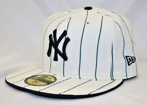 902f9ca3d6d Image is loading New-Era-Cap-Off-White-Navy-Logo-59FIFTY-