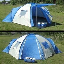 8 Man Person Large Alpine Family C&ing Tent With Ground Sheet Pegs & Regatta Premium 8 Man Family Tent With Carpet | eBay