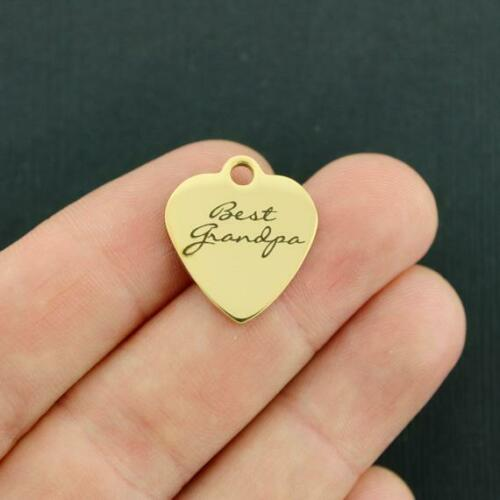 BFS3610GOLD Grandfather Gold Stainless Steel Charm Best Grandpa