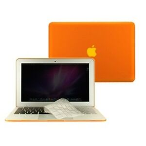 2-in-1-Rubberized-ORANGE-Case-for-Macbook-AIR-13-A1369-with-TPU-Keyboard-Cover