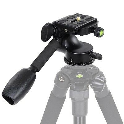 360 Swivel Tripod Ball Head Ballhead with Quick Release Plate 13lbs DSLR Camera