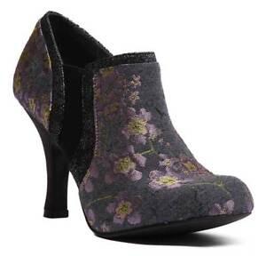 in fiori Shoo Stivaletti scarponcini a floreale Juno stoffa Ruby fantasia qvnFZwUA