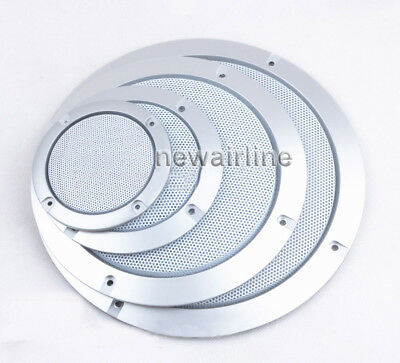 1PC 3//4//5//6.5//8//10 inch Speaker Cover Decorative Circle Metal Mesh Grille #White