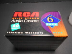 RCA BLANK AUDIO CASSETTE TAPE HI-FI STEREO 60 MINUTES NORMAL BIAS SEALED NEW
