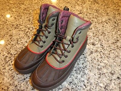 5df14a93a59dce Nike Woodside 2 (gs) ACG Winter BOOTS Leather Black Tea Olive Boys ...