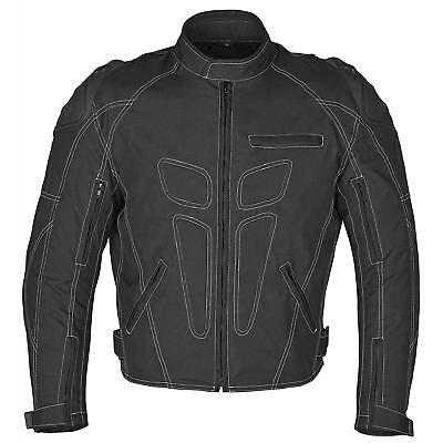 Men Motorcycle Four Season Black Textile Race Jacket CE Protection MBJ62