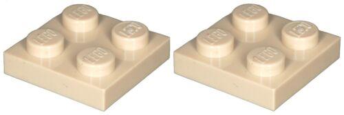 Missing Lego Brick 3022 Tan x 2  Plate 2 x 2