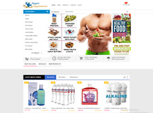 Money making Supplement Store drop shipping / Amazon Affiliate Web Free Hosting