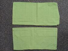 IKEA Skoghall Bright Green Set of 2 Euro Shams tiny leaf print NWOT