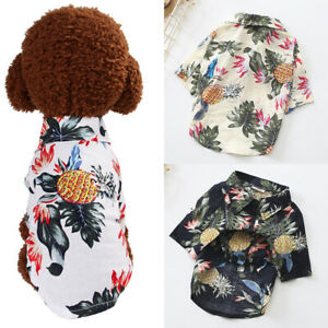 Cute-Dog-Cat-Puppy-Pets-Fashion-Floral-Clothes-Clothing-Business-Shirt-Apparel