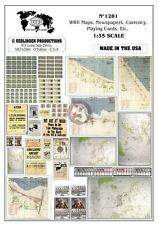 Verlinden 1/35 Maps, Signs, Newspapers, Currency, Playing Cards, etc. WWII 1281