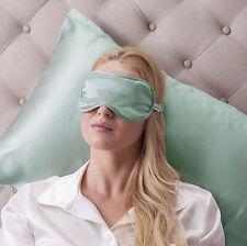 Jasmine Silk Pure Silk Filled Sleep Eye Mask Sleeping Eye blindfold Duck egg