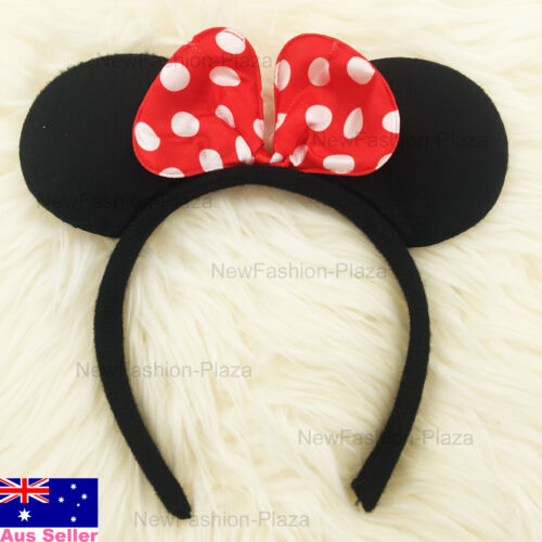 Disney Mickey//Minnie Mouse Hair Band// Ears Bow Head Band for Baby Kids Girls