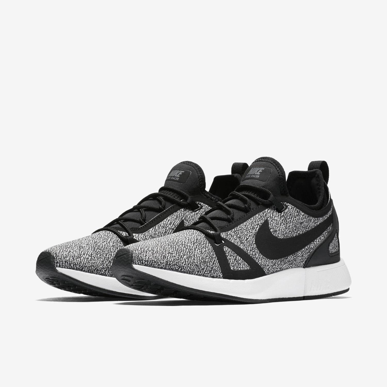 Wmn Nike Duel Racer Knit Sz 5.5 Black Dark Grey Running AA1107 003 FREE SHIPPING
