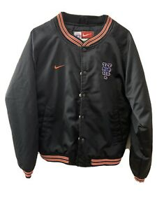 Kids-Size-Large-16-18-Nike-MLB-NY-Mets-Black-Varisty-Jacket
