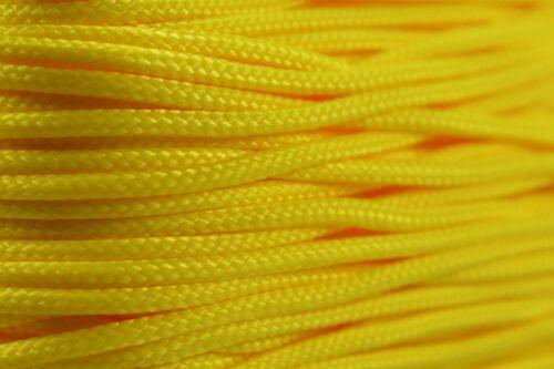 Jaune-Type 1 95 Cordon 1.59 mm 100 ft environ 30.48 m corde en nylon-Made in the USA