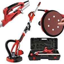 4ft Swivel Electric 5 Speed Drywall Sander 6pcs Sand Paper Portable Case Red