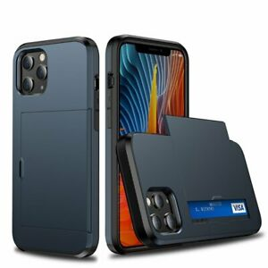 For iPhone 13 12 11 Pro Max XS XR X Shockproof Case Cover Wallet Card Holder