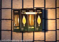 Box Of 4 Spun Glow Amber Gold Light Bulbs 60 Watt C11 Spunglo Glowescent E12
