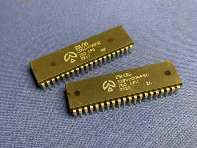 Z0840004PSC 40-pin DIP Zilog Z80 CPU Vintage