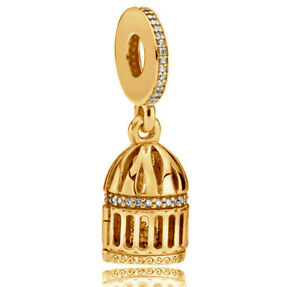 cf158756c Genuine PANDORA Free as a Bird Hanging Charm 14K Gold Vermeil ...