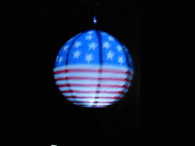 4TH OF JULY Sets Of PATRIOTIC Round Paper Lanterns Battery Operated LED Lights