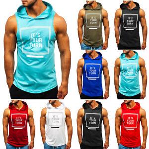 Tanktop T-Shirt Tee Muskelshirt Achselshirt Men Kapuze Herren BOLF 3C3 Print WOW