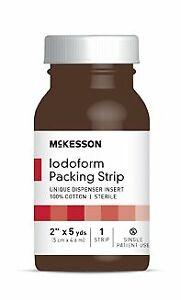 "Wound Packing Strip McKesson Antiseptic Iodoform XL 2"" X 5 Yard (Case of 12)"