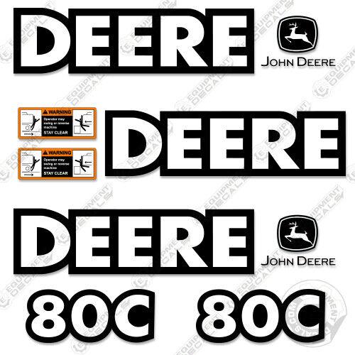 John Deere 80C Decal Kit Mini Excavator Decals Equipment Decals 80 C
