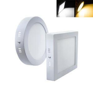 Image Is Loading Surface Mounted LED Panel Light Square Round Ceiling