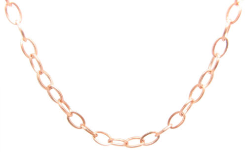 Solid Copper Chain CN703G Available in 18 to 30 inches. 3//16 of an inch wide