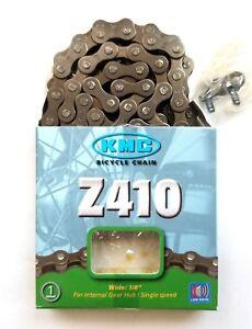 KMC Z410 Bicycle Chain 1-Speed 1//2 x 1//8-Inch 112L