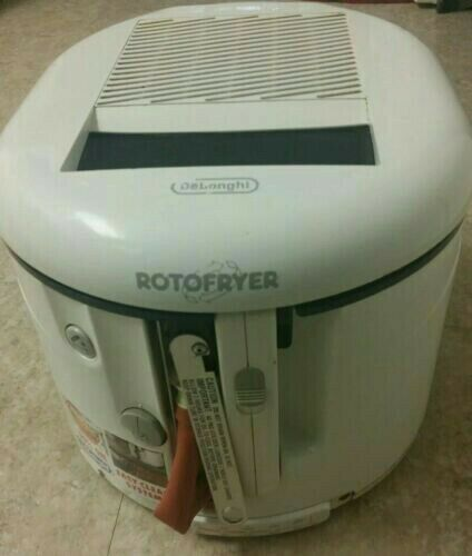 Delonghi Cool Touch Rotofryer Rotating Deep Fryer with Removeable Basket D-20D