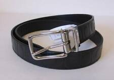 Coach Reversible signature logo belt black leather man OS One size silver CC